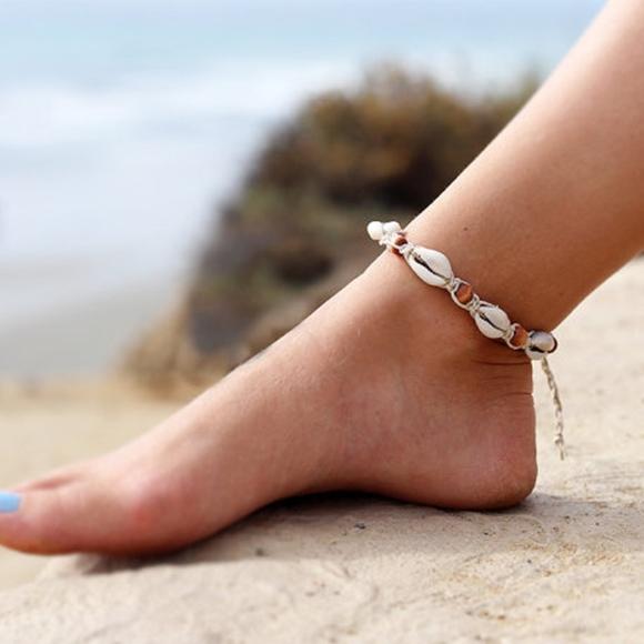Jewelry Boho Seashell Anklet Beaded Ankle Bracelet Poshmark